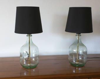 Table Lamp, Small Table Lamp, Bedside Lamp, Set Of 2 Table Lamps, Glass  Bottle Lamp, Bedroom Lamp, Modern Decor, Bottle Lamp, Glass Lamp