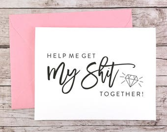 Funny Bridesmaid Card, Funny Bridesmaid Proposal, Will You Be My Bridesmaid Card, Will You Be My Maid of Honor Card - (FPS0057)