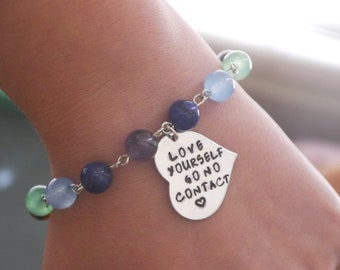 Love Yourself Bracelet, Be Brave Gift, Narcissistic Abuse Survivor Bracelet, Narcissistic Abuse Awareness, Toxic Relationships, No Contact
