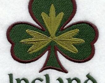 Ireland Shamrocks Embroidered Flour Sack Hand Towel