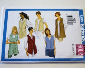 Butterick 5888: 2 Hour Fast and Easy Misses' Vest Sizes 8,10,12 UNCUT