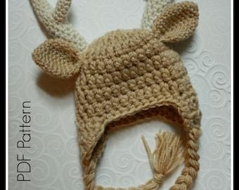 Crochet Baby Buck Antler Hat {PDF PATTERN ONLY}