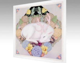 Deer Garden Limited Edition Art Print