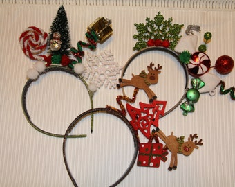 Christmas Headband, Adult Christmas Headband, Holiday Headband, Reindeer headband, Christmas candy headband, Whimsical headband