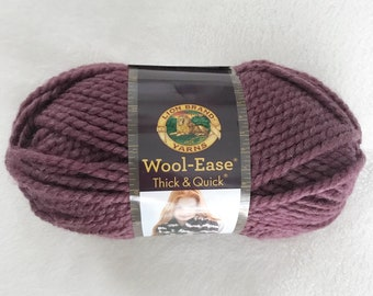 Lion Brand Yarns | Wool Ease | Thick and Quick | Super Bulky | Fig | Purple Violet