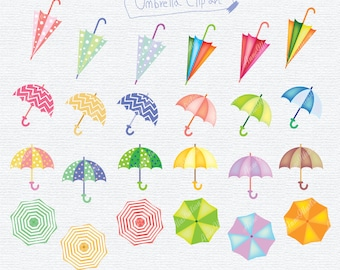 Umbrella Clipart,Umbrellas Clipart,Personal & Commercial use,Vector, Instant download_ CA09