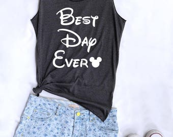 Best day ever Mickey tank top. Disney tank. Disney tshirt. Tee&Tops. Disney tank. Disney family shirts. Disney shirt. Mickey mouse shirt