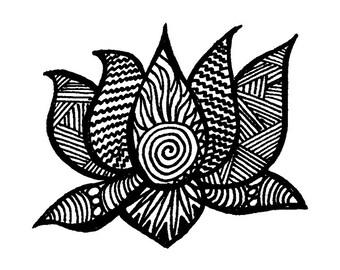 Lotus Flower Notecards