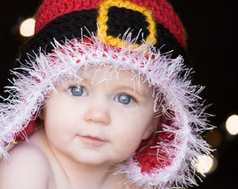 CROCHET HAT PATTERN Santa Ski Beanie Adults and Kids