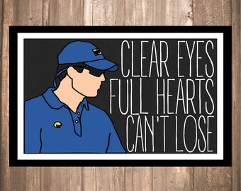 """INSTANT DOWNLOAD - Friday Night Lights """"Clear Eyes"""" Panthers Print"""
