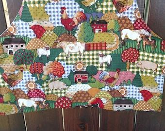 Child's crayon apron REVERSIBLE , apron, kids apron, craft apron, child's apron, farm apron,