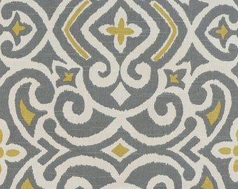 Gray Damask Fabric