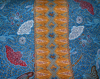African fabric, real coupon wax blue x116cm 82 cm