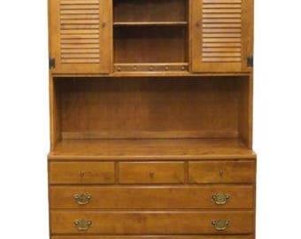 ETHAN ALLEN Heirloom Nutmeg Maple 40u2033 Crp Dresser W/ Bookcase Top
