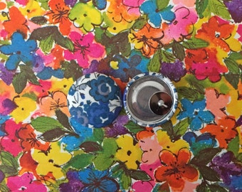 Blue Button Earrings / Wholesale Jewelry / Fabric Covered / Custom Order / Bulk Discount / Gifts for Her / Made in USA / Nickel Free