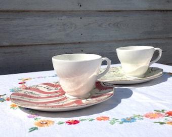 Vintage teacup and saucer. Teacup and biscuit/cake saucer. Vintage afternoon tea.