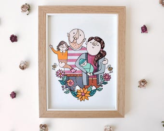 Custom Family portrait (DIGITAL FILES)
