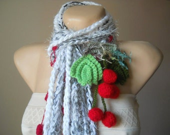 Women 50% OFF Scarf Ready To Ship Crocheted Accessories Scarves Loop Elegant Winter Romantic Warm Muffler Hand Knitted Neckwarmers Soft Cowl