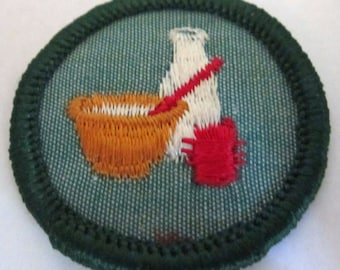 """Vintage Junior Girl Scout Badge """"Cooking"""" circa 1960's"""