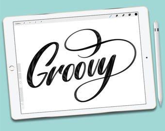 Procreate Brush :  Groovy brush