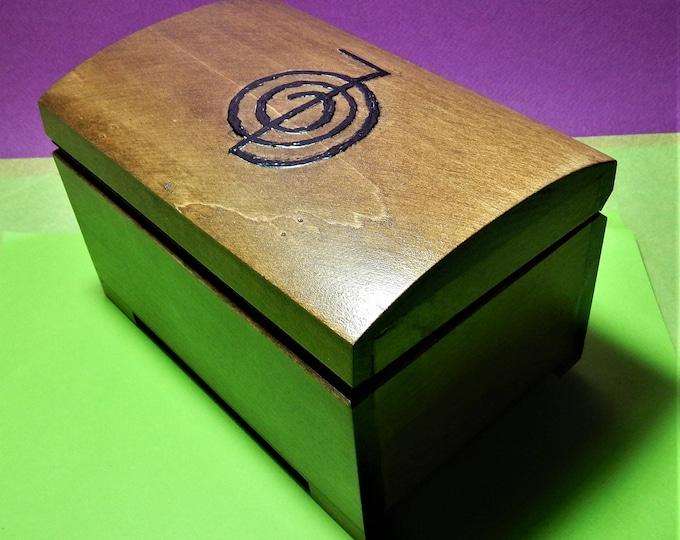 Reiki wooden box,Meditation And Healing Box ,reiki box,decoupage healing box,chakra box,crystal box,choku rei,choku rei box,jewwelery box