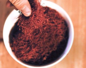 Organically Grown Saffron,  whole stigma 1 gram
