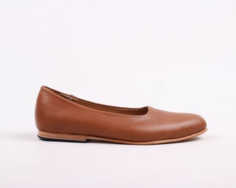 Single Cut Loafers (Tawny)