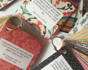 Scripture Cards for Peace, Scripture Cards for Hope, Scripture Ring, Decorative Scripture Cards