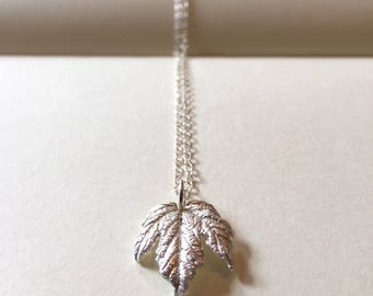 Maple leaf necklace silver maple leaf pendant nature jewellery woodland jewellery woodland necklace