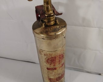 Vintage Brass Sure Action General Quick Aid Fire Guard Fire Extinguisher