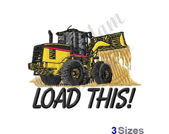 Front End Loader - Machine Embroidery Design