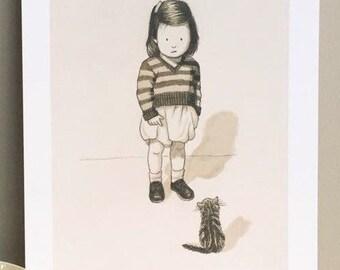 Naughty Kitten (A4 print)