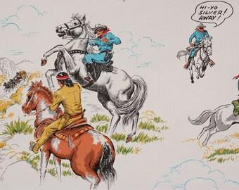 1980s Vintage Wallpaper Lone Ranger Texas Ranger Tonto Silver