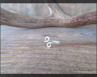 Ring, Silver, Wire, Size 7, Simple
