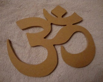 Om  Symbol Mdf Wood Shape Mosaic Base Unpainted Craft Shape Wood Cut out Handmade 15 x 13.5