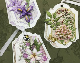 3 Piece Floral Gift Tag Set