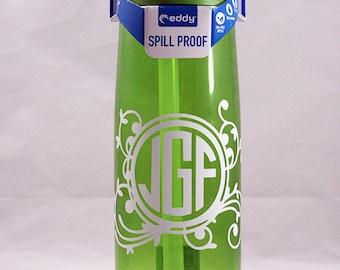 Personalized Flourish Monogram .75L  CamelBak® Eddy Bottle - Water Bottle - Hydrate - Custom - Bottle - Hydrate - Bite Valve