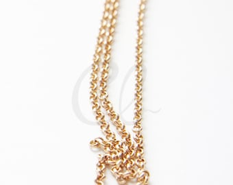 6 Feet RAW Brass Chains-Rolo 3mm (420C)