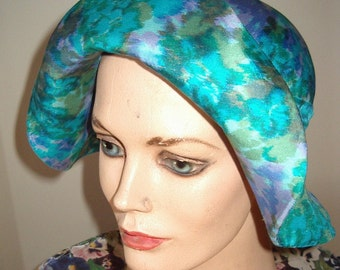 1960s Designer Original Silk Print Fisherman Style Cloche Item #772
