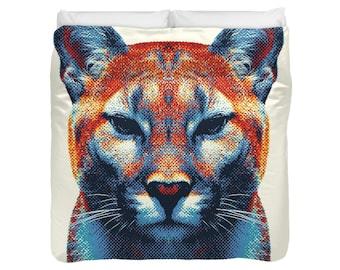 Puma Duvet Cover / Comforter - Colorful Animals