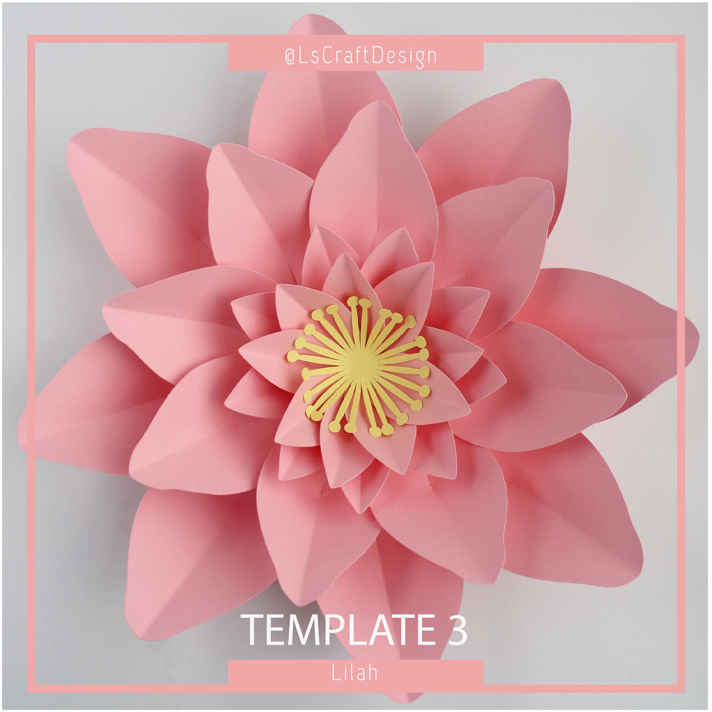 Paper flower template pdf paper flower diy paper flower zoom mightylinksfo