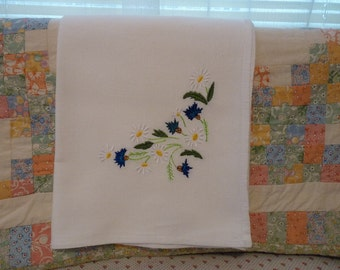 Daisys and Thistles Flour Sack Dish Towel