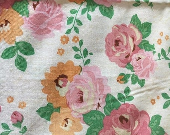 Spring Sale Rose  fabric remnant