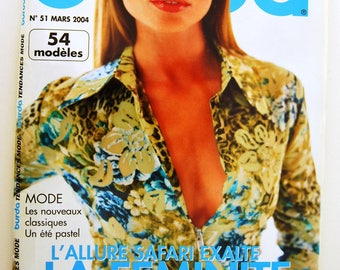 Burda March 2004 number 51 trendy summer fashion trends magazine