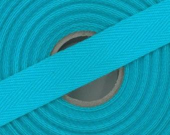 Lot 5 m Ruban sangle sergé 100 % coton 14 mm fabrication européenne / Coloris au choix