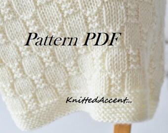 Easy Blanket PATTERN, Knit Baby Pattern, Knitting Pattern, Blanket Pattern, Baby Blanket, Knit PDF Pattern, Easy Knit Pattern, Easy Knitting