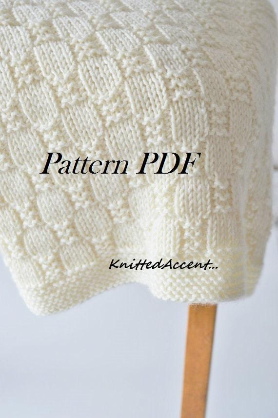 Easy Blanket Pattern Knit Baby Pattern Knitting Pattern Blanket
