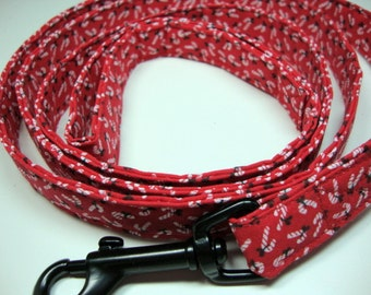Holiday Candy Cane Red Leash Large
