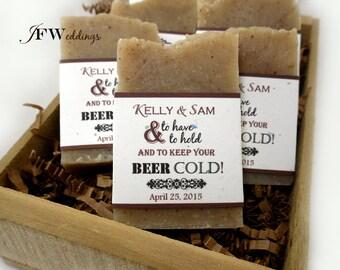 50 Soap Favors, Bridal Shower, Soap Favor Wedding, Bridal Shower Soap Favor, Unique Soap Favor, Personalized, Bridal Shower Gift, Beer Soap