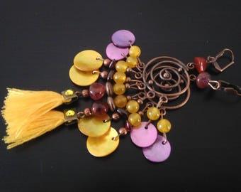Sunny Earrings: yellow tassels